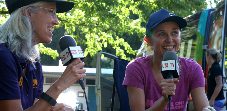 """The Canyons 100K 2015 - Erin Beck Interviewing Magdalena Boulet for USL.tv"""